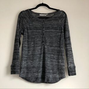 See by Chloe Sheer Gray Henley Sweater